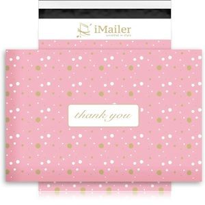 Poly Mailers 14 X 19 (10 Pack) Pink Polka Dot